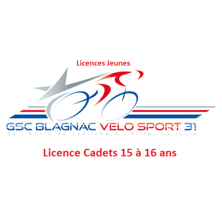 Licence Cadets (15 - 16  ans)