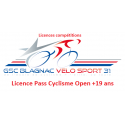 Licence Pass Cyclisme Open (+19 ans)